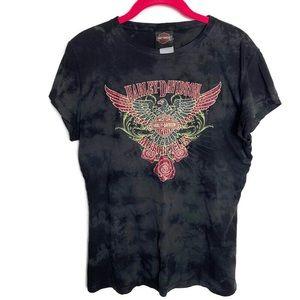 Harley Davidson Rhinestone Mile High T-shirt